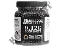 5000 x 6mm x 12g Black Polished Airsoft BB Pellets in Tub